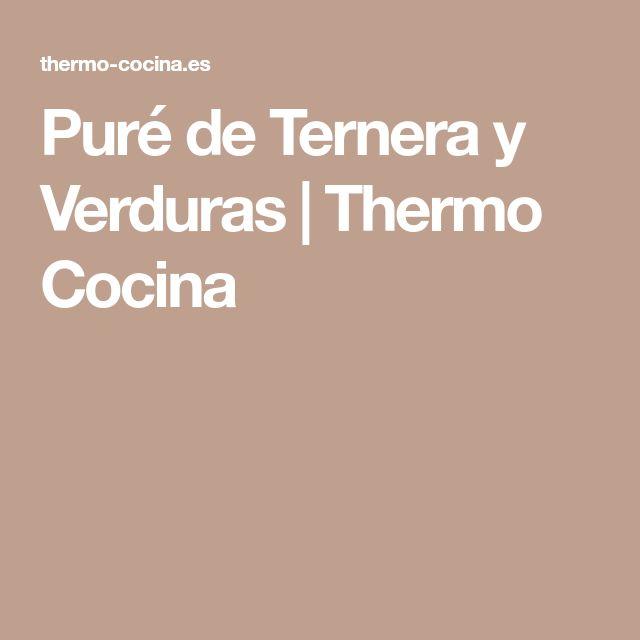 Puré de Ternera y Verduras   Thermo Cocina