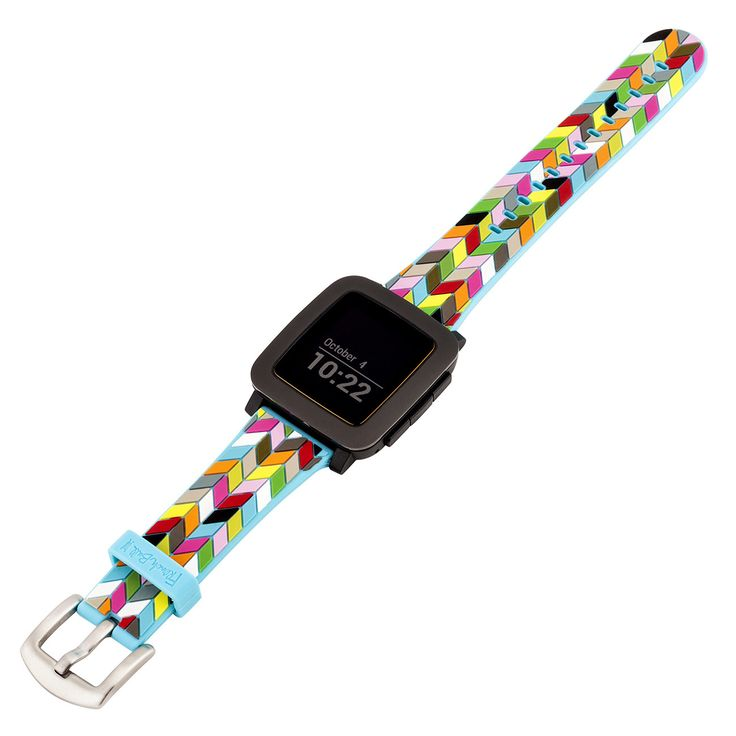 Pebble Watch Band by French Bull - Condensed Ziggy -French Bull Designer Band for use with Pebble Time and Pebble Watch, Smartwatch band
