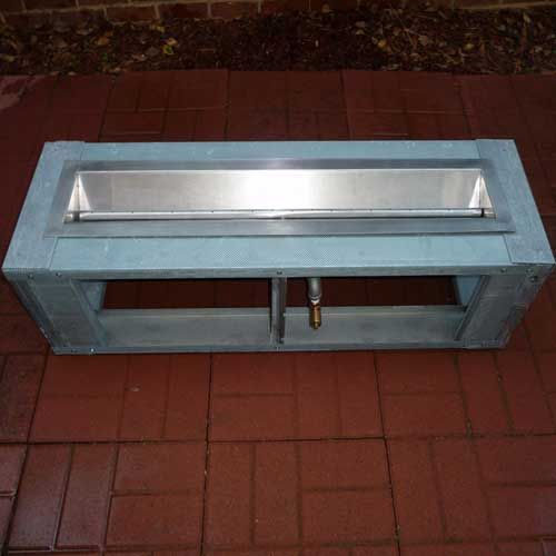 "Fire pit frame, DIY fire pit system, FT 44"" Gas Fire Trough, http://www.gaslight-firepit.com"