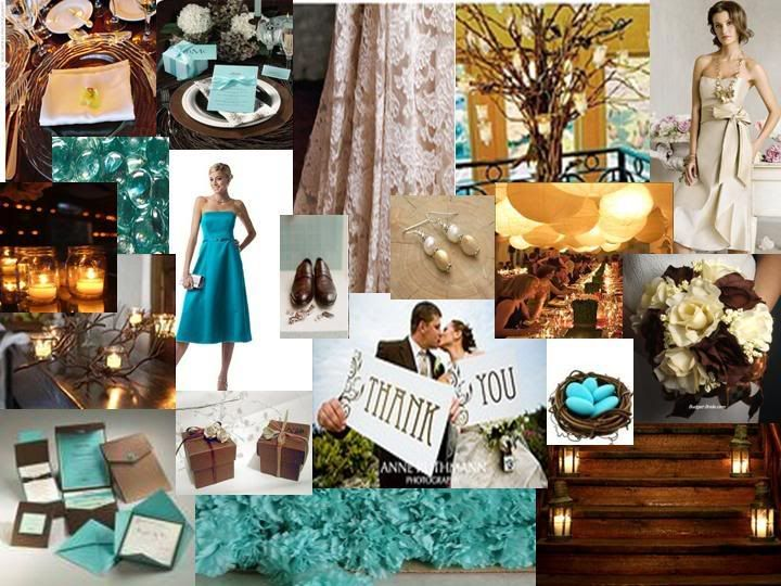 Tiffany Blue Brown Ivory Mood Fall Elegance The Perfect Palette