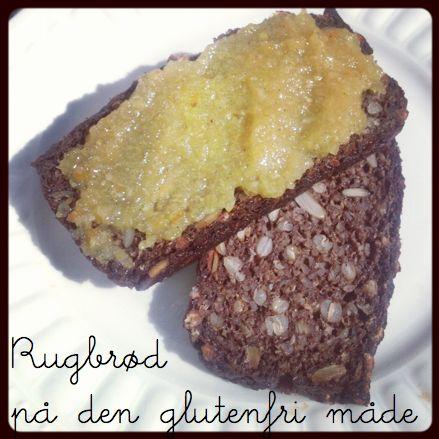 Glutenfrit rugbrød, glutenfrit brød, brød uden gluten, glutenfrit grovbrød