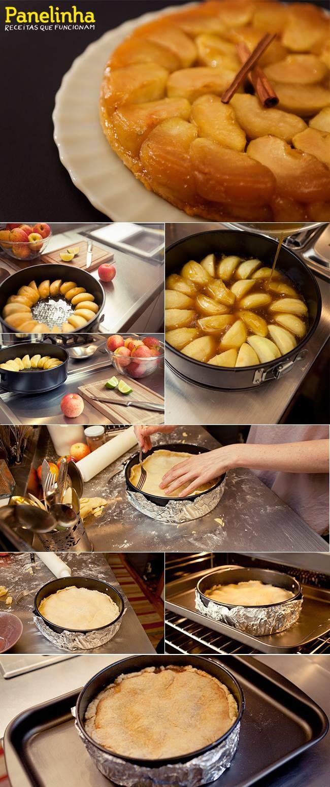 Tarte tatin | Receita Panelinha:   Passo a passo já pensando no Dia dos Pais. A tarte tatin faz vista aos olhos e é uma delícia!  A preparação e lista de ingredientes você encontra no site do Panelinha.