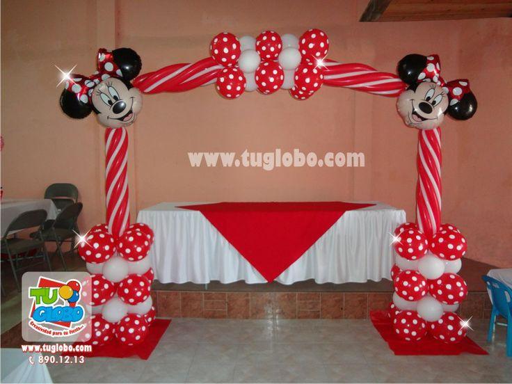 Arco de globos Minnie Rojo   cumpleanos   Pinterest   Ratones ...