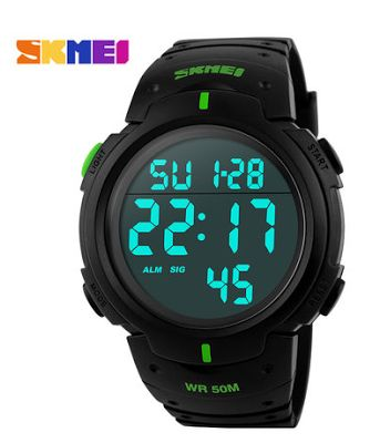 Спорт, кемпинг и туризм.: Skmei 1068. Военные водонепроницаемые спортивные часы. Цифровые светодиодные наручные часы. Погружение - 50 м.