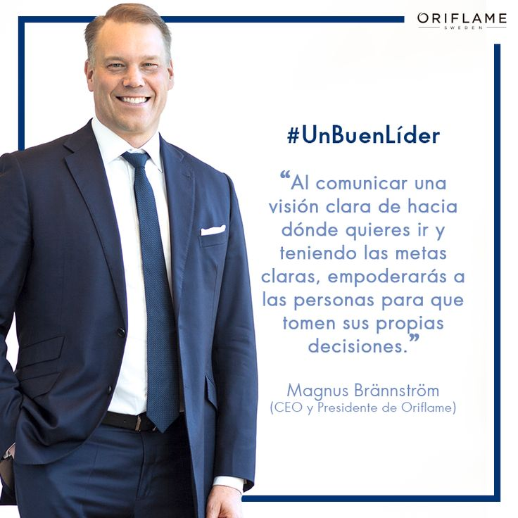 ¡#UnBuenLíder siempre debe tener sus objetivos bien claros!