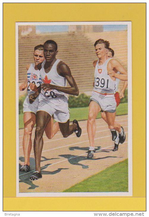 image jeux olympiques de 1932 - Phil Edwards dirige le champ dans la course de 800 mètres.