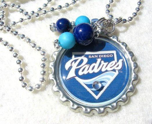 San Diego Padres Necklace San Diego Padres Jewelry Baseball
