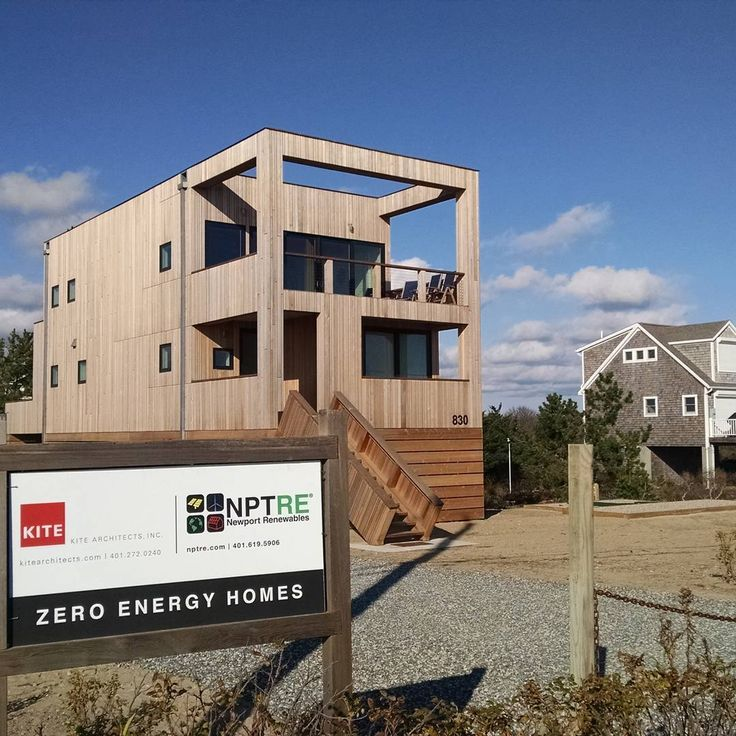 Using new renewable energy technology and a super insulated building envelope new homes can be designed to eliminate utility costs. This new beach home is both energy self-sufficient and has elevated living quarters as an adaption to rising sea-level. Designed by Kite Architects and built by Newport Renewables Rhode Island companies. #renewableenergy #solar #sustainableliving  #sustainability #insulation #photovoltaic #rhodeisland  #coast