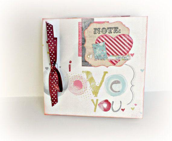 Love mini album Scrapbook mini album Romantic by sweetpaperlife