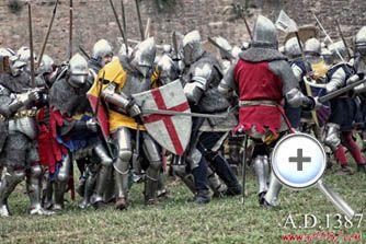 A.D. 1387 - Battaglia a Terra del Sole.  Raduno internazionale di gruppi storici di fine 1300