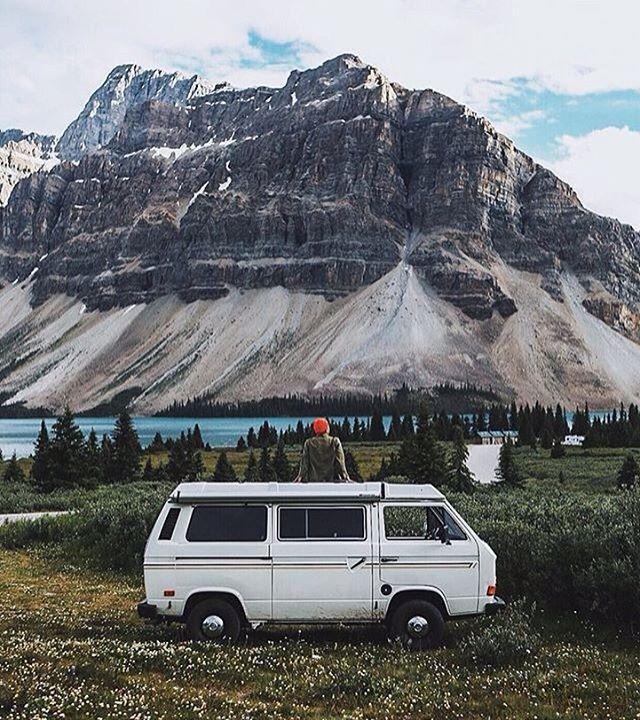 "vanlifers: """"Mountains views."" By @scottcbakken #vanlifers """