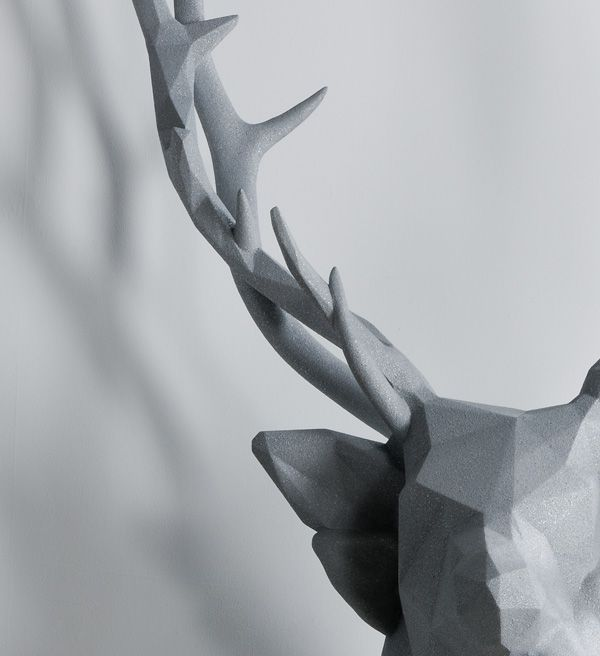 sculptural piece by artist Kohei Nawa entitled Polygon Double Deer #2. Photograph by Omote Nobutada