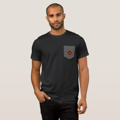 Red Star Hammer and Sickle Men's Pocket T-Shirt - red gifts color style cyo diy personalize unique
