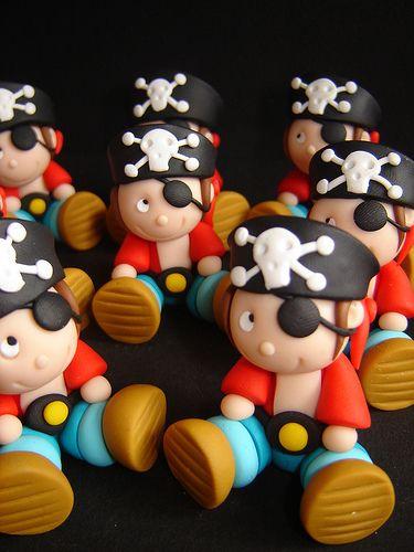 Piratitas. Preciosos para cupcakes.