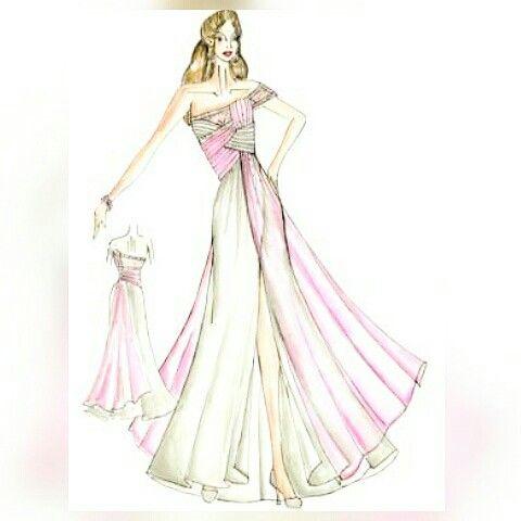 Elegant evening dress.