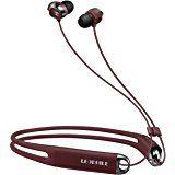 LEOPHILE EEL IP67 Waterproof Sports Bluetooth Neckband Headphones, Wireless 4.1 Stereo Headset with In-Ear Earbuds Earphones for RUNNING & WORKING - Red