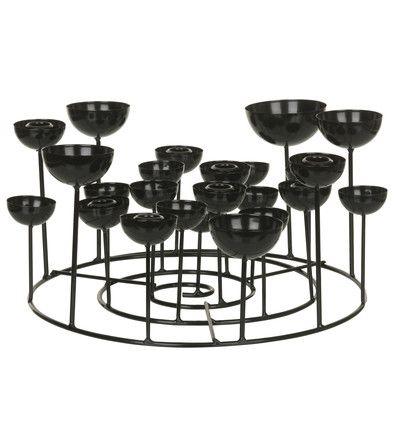 Zwarte kaarsen kandelaar vd 50euro
