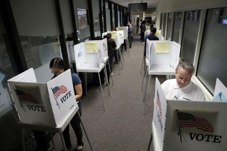 California citizens vote early at the Santa Clara County Registrar of Voters on Nov. 4 in San Jose.