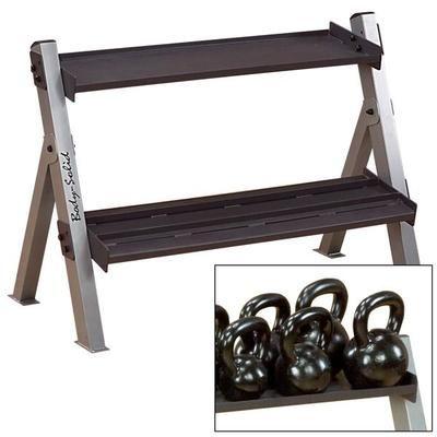 Body Solid Dual Dumbbell & Kettlebell Rack