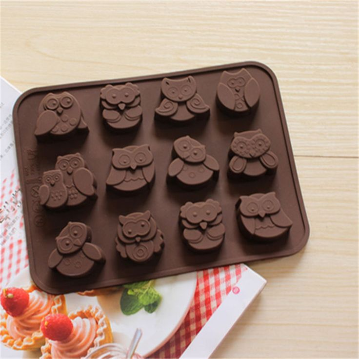 Barato Moda 12 estilos coruja biscoitos molde de Silicone de Chocolate decoração Mold Baking frete grátis, Compro Qualidade Ramos diretamente de fornecedores da China: Baby Shower Party 3D Silicone Fondant Mold For Cake Decorating sugar craft tools Free ShippingUSD 1.89/pieceSilicone But