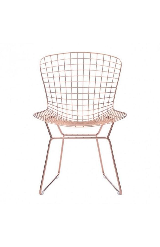 <p>An icon of Mid-Century Modern design, the Wire dining chair is made of solid steel frame creating a continuous molded seat and back design, supported by slim profile throughout frame and sturdy foot rest.</p> <p>See last image for the dimensions.</p>