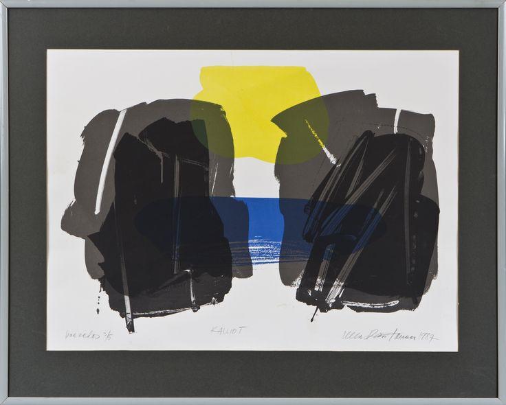 Ulla Rantanen. Kalliot, 1987, litografia, 54x74 cm, edition  koevedos 3/5 - Hagelstam A132