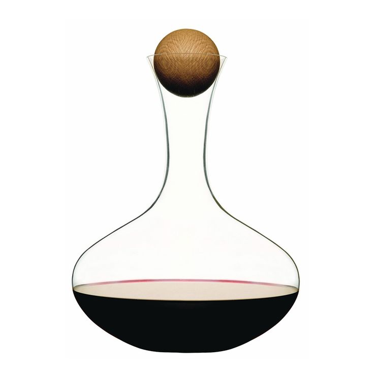 Penedes Decanter with Round Wood Closure | dotandbo.com