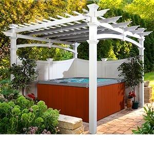 17 best spa pergola ideas images on pinterest pergola ideas pergolas and spas. Black Bedroom Furniture Sets. Home Design Ideas