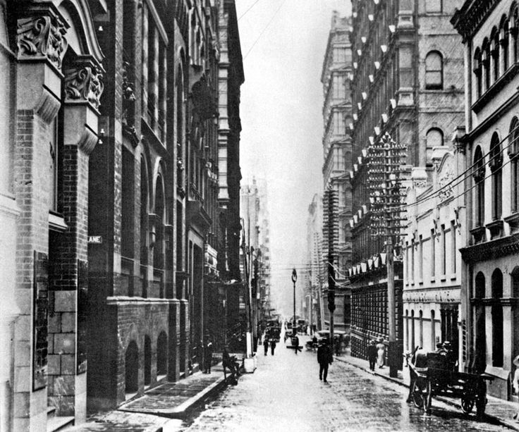 Vintage Photograph of Flinders Lane Melbourne Victoria Australia (City)