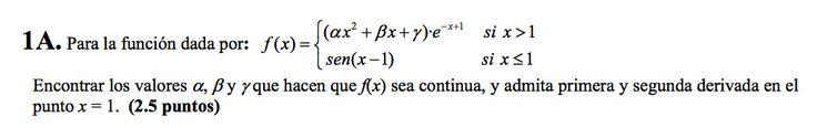 Ejercicio 1A Junio 2007-2008. Propuesto en examen pau de Canarias. Matemática. Continuidad, derivabilidad y representación de funciones. Límites.