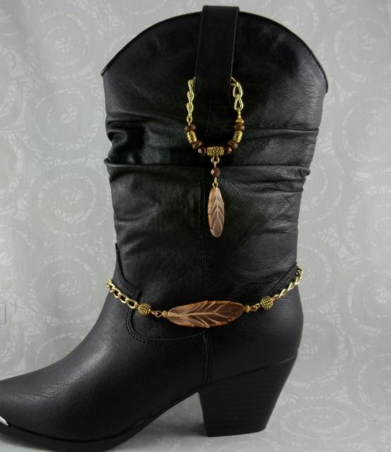 Feather Boot Jewelry... I think I would like this better with silver feathers.