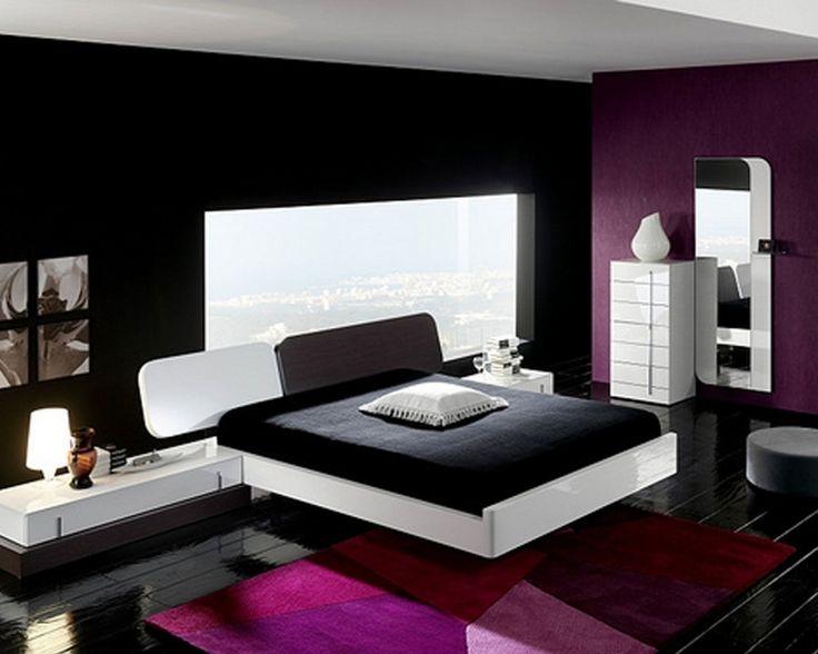 black white pink bedroom - interior design for bedrooms