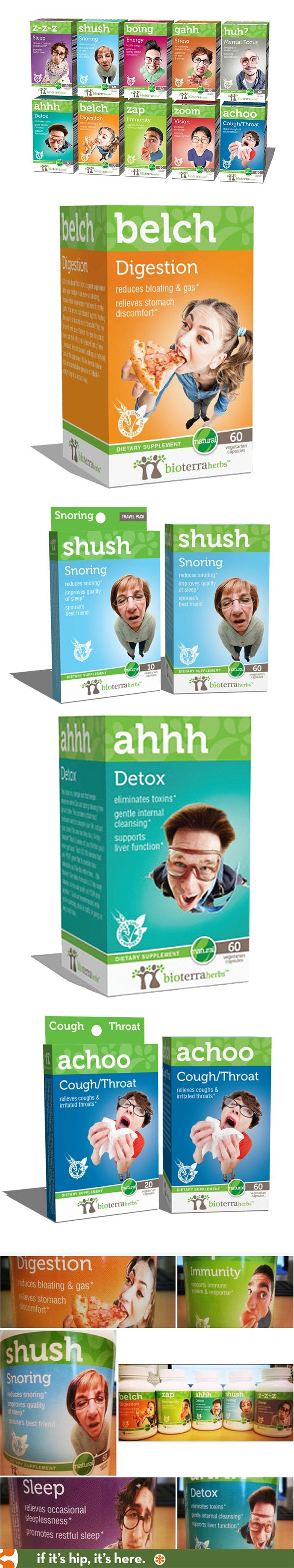 BioTerra Herbs has great fun packaging with wonderful product names and photography. PD
