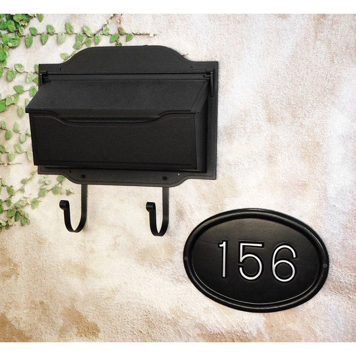 Contemporary Horizontal Wall Mount Mailbox with Address Plaque