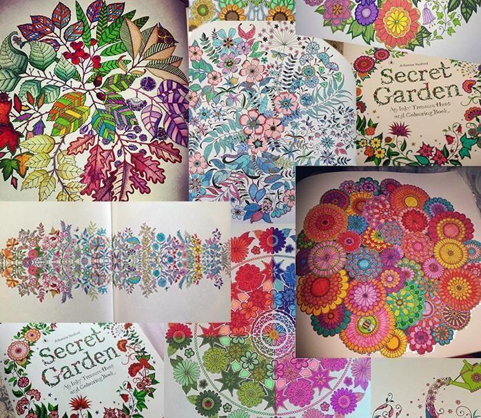 2015 Secret Garden Un Manchado De Tinta Busqueda Del Tesoro Y Coloring Book Hijos Adultos Relax