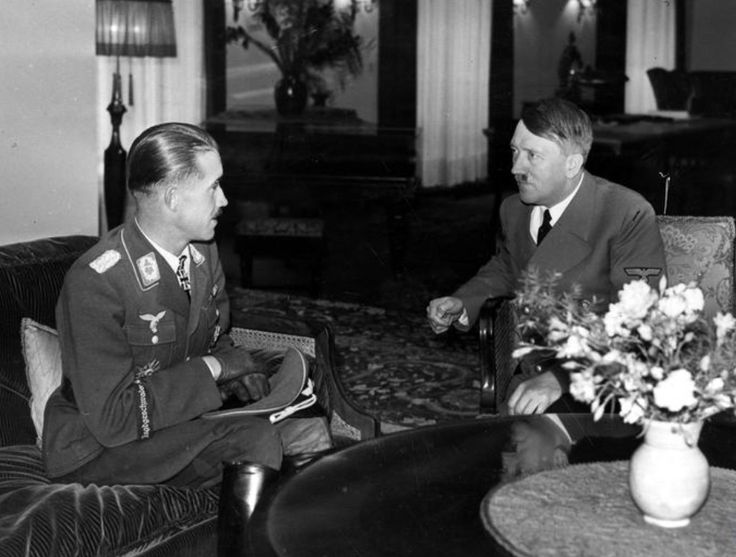 With Adolf Galland, 1940 in Berlin.