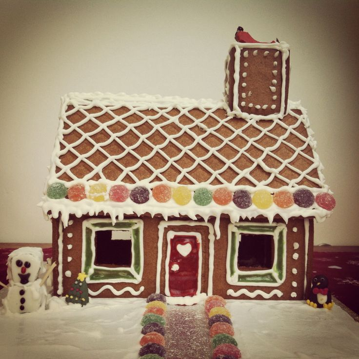 Ikea gingerbread house decorated. Feeling very Christmassy now!