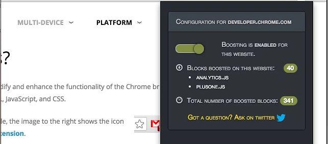 Salah satu yang ingin saya bahas kali ini adalah sebuah ekstensi yang bisa mempercepat loading web blog bila diakses menggunakan Google Chrome.  #Tips