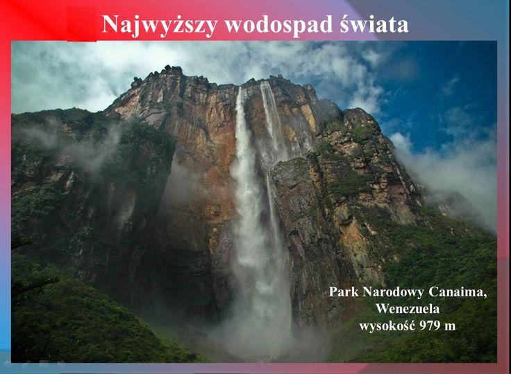 Najwyższy wodospad świata_Wenezuela 979 m