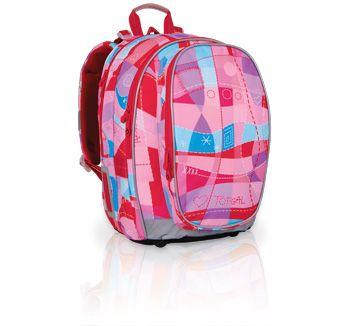 Plecak szkolny od 3 do 6 klasy w dziewczęcych kolorach. Pastelowy róż i niebieskie elementy powodują, że plecak jest romantyczny i delikatny.