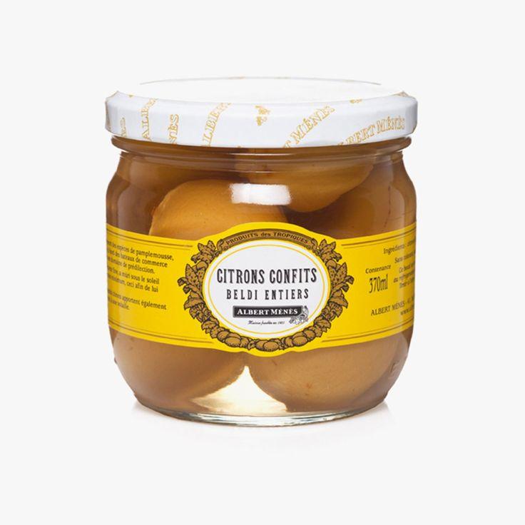 Citrons confits Beldi Albert Ménès Find this product on Bon Marché website La Grande Epicerie de Paris http://www.lagrandeepicerie.com/produit/9975_citrons-confits-beldi.html