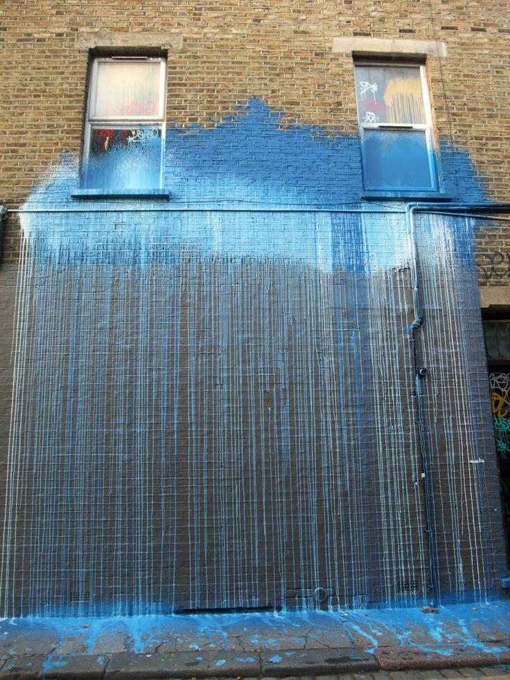 street art rainClouds, Sidewalk Art, Rainy Day, Street Art Utopia, Streetartutopia, Blue, Graffiti, Storms, Installations Art