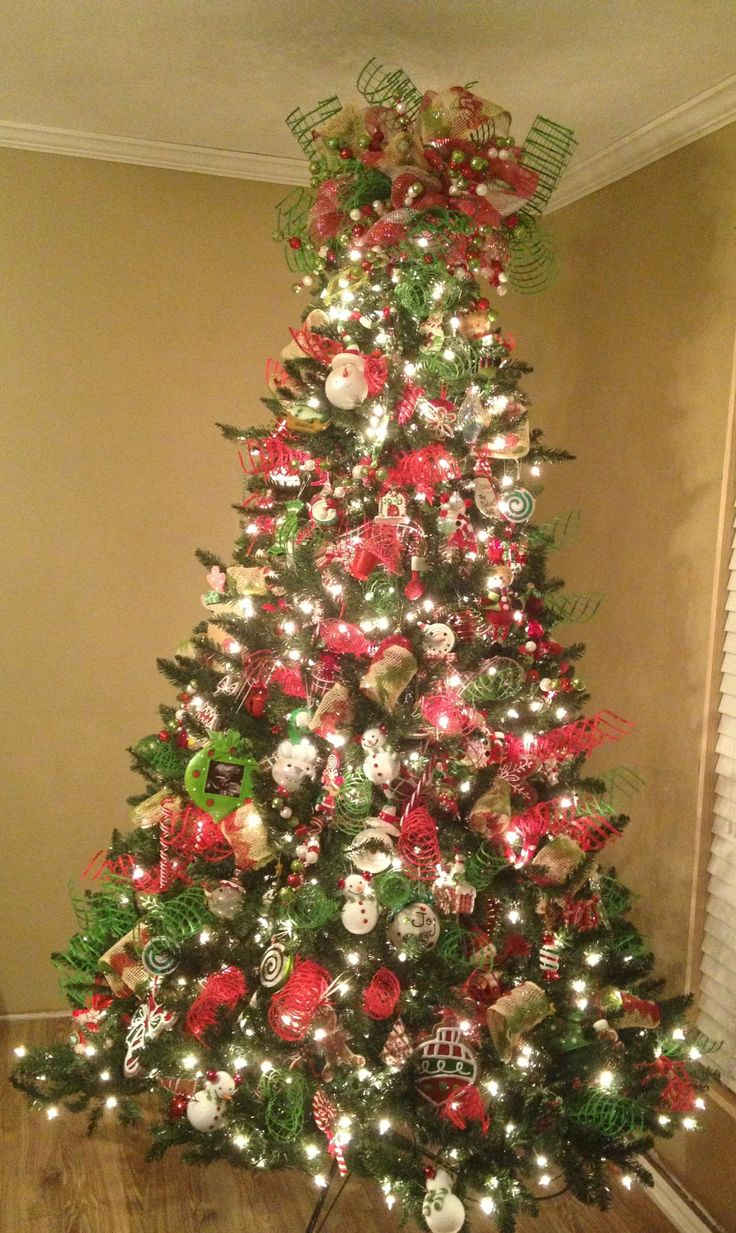 Red White Green Christmas Tree