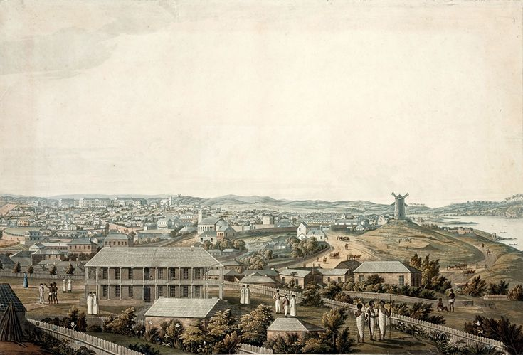 The town of Sydney in New South Wales in 1821.