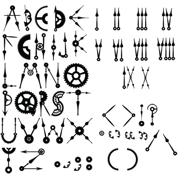Steampunk/clockpunk style font. liked on Polyvore