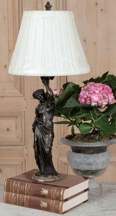 Antique Bronze Caryatid Table Lamp Antique Lighting