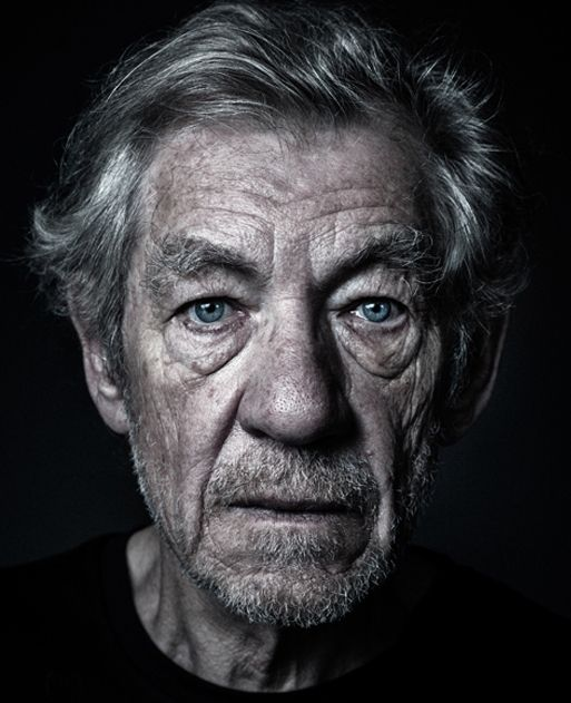 Sir Ian McKellen by Portrait Photographer, Andy Gotts // Sir Ian Murray McKellen (born 25 May 1939) is an English actor whose work spans genres ranging from Shakespearean and modern theatre to popular fantasy and science fiction. His notable film roles include Gandalf in The Lord of the Rings and The Hobbit trilogies and Magneto in the X-Men films.