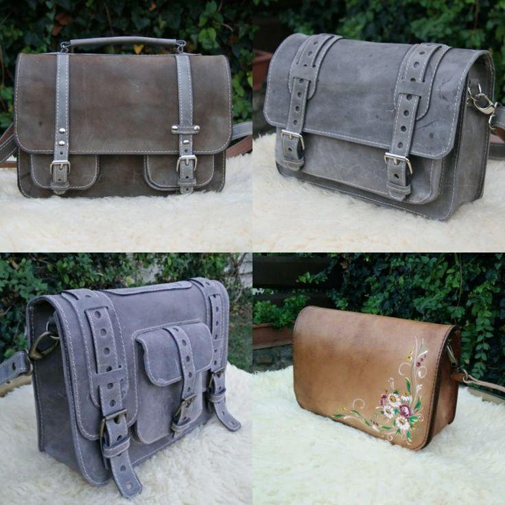 Handmade unique leather shoulder bags. http://bit.ly/mssenger