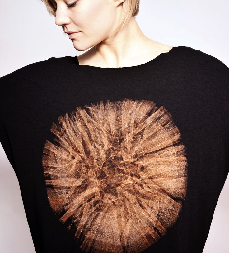 hand dyed unique longsleeve by goshko mandala