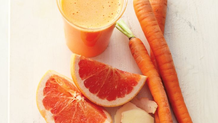 Detox Cred: Liquids in the morning are easier on your digestive system than solid foods. The carrots in this zesty tonic deliver a blast of immunity-boosting vitamin C and enough fiber to sustain you until your first snack.